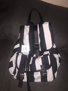 Brand new black and white backpack
