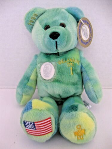 TIMELESS TOYS State Quarter Bear 1999 #1 Delaware Plush Beanie Collectible
