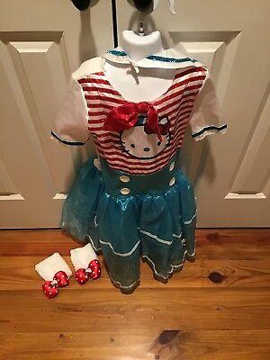 Hello Kitty Girls Sailor Costume And Accessories Size 7-8 In EUC (4 PCS) (Kitty Costume Accessories)