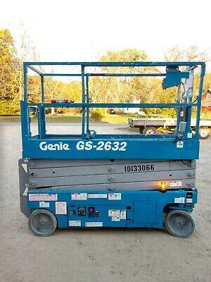 2013 Genie Gs 2632 26 Electric Scissor Lift Aerial Manlift Platform 24v