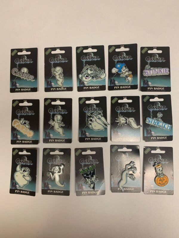 Casper the Friendly Ghost Pin Badges Set of 15