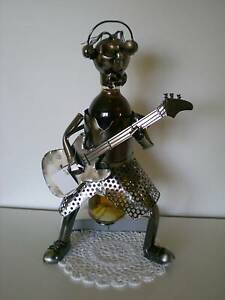 Awesome Huge character (Guitar Man) wine/spirit bottle holder Bligh Park Hawkesbury Area Preview