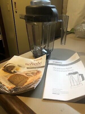 Vitamix 32oz .9l Mini Container Wdry Blade And Lid Cookbook Dry Grain