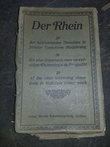 Antique Der Rhein Postcard Booklet SEE PICTURES AND DESCRIPTION