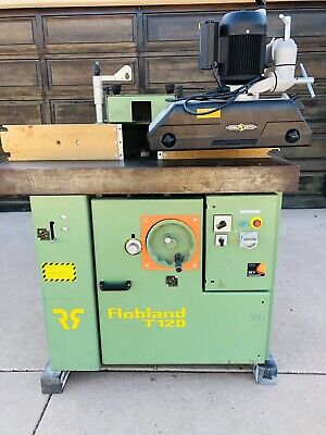 Wow Robland T-120 7.5 Hp Shaper With Steel City Power Feeder Excellent
