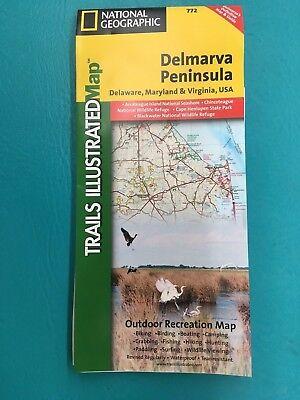 National Geographic Delmarva Peninsula Trail Map  772
