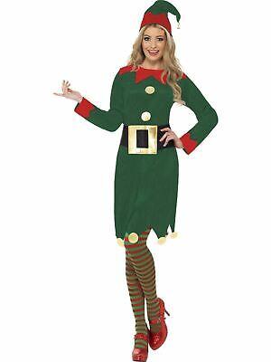 Elf Womens Costume Fancy Dress Xmas Adult Christmas Santas Little Helper - Xmas Fancy Dress Kostüm
