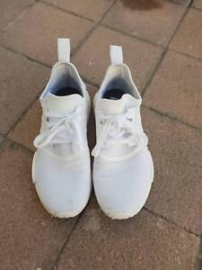 ADIDAS NMD R1 TRIPLE WHITE US SIZE 8.5 SNEAKERS