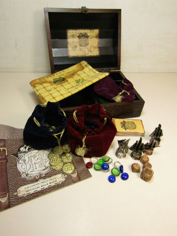 Front Porch Dread Pirate Board Game Wooden Treasure Chest Edition