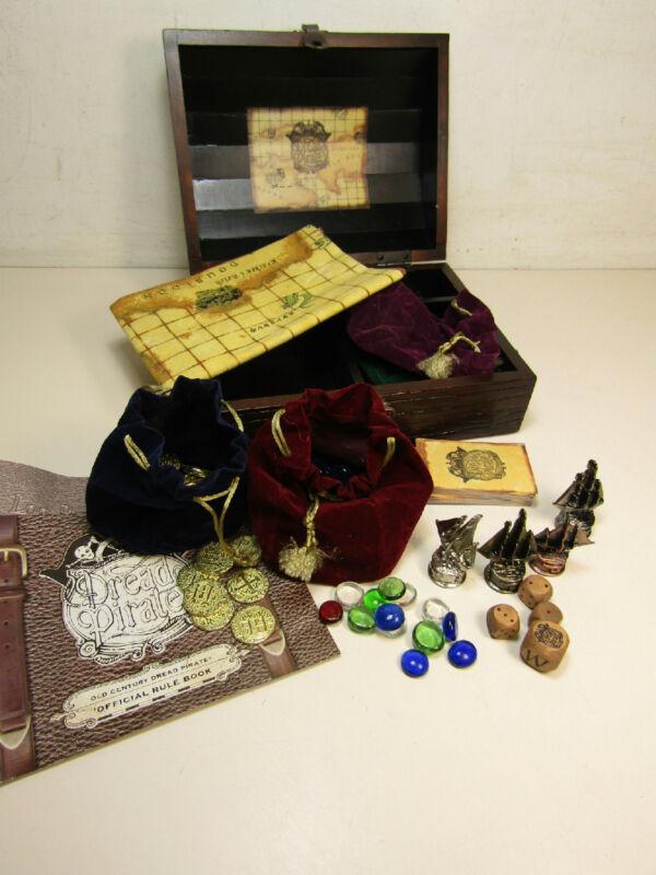 Front Porch Dread Pirate Board Game Wooden Treasure Chest Edition