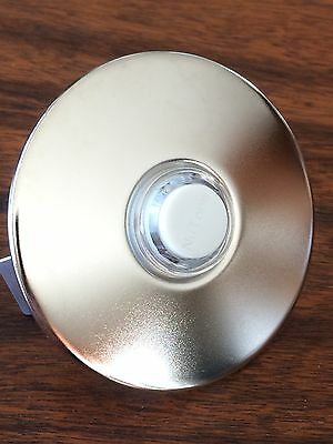 NuTone PB41LSN Wired Lighted Door Chime bell Button  Round  Satin Nickel Stucco