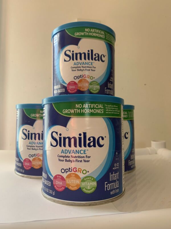 Similac Advance 1 Stage Infant Formula with Iron 12.4 Oz  Lot Of 4