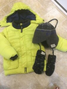 Mexx 12-18 month winter jacket, hat and mitts