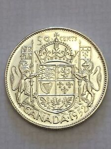 1952 Canadian Silver Fifty Cent Coin - UNCIRCULATED