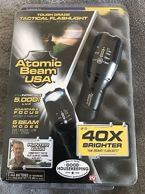 You get 1 NEW Atomic Beam USA  As Seen On TV Tactical LED Flashlight