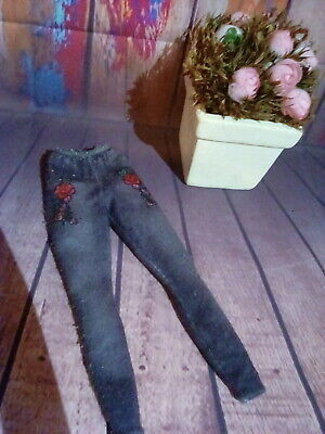 Mattel hard rock cafe knit leggings w roses Pre-owned. Free ship!
