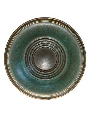 Antique Carl Sorensen Ribbed Bronze Bowl