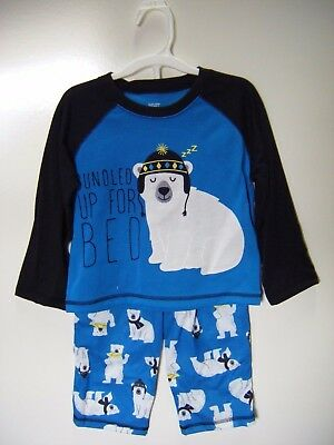 Carters Just One You 4 Piece Polar Bear Boys Snug Fit Pajama Set