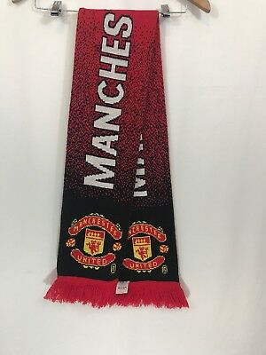 Manchester United Football Club Red White Black Scarf