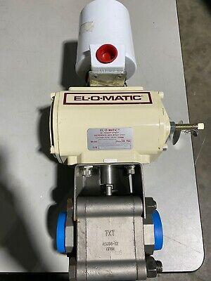 El-o-matic Pneumatic Actuator Da-15 Windicating Switch 44ad1 Ball Valve Nos