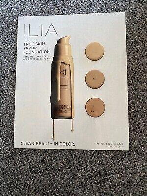 Ilia Beauty True Skin Serum Foundation Samples - 3 Shades