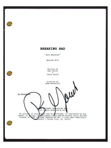 Peter Gould Signed Breaking Bad Half Measures Ep Script Writer Producer COA