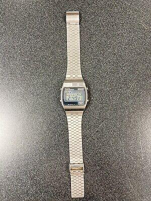 Vintage Seiko TV Style Case Digital Chronograph Alarm A159-4000-G Quartz Watch