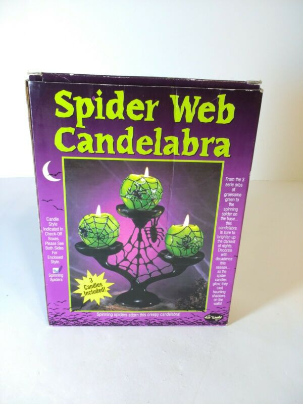 Spider Web Candelabra*New In Original Packaging* Spiders Candles