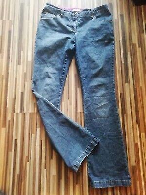 LADIES SIZE 12 BUTTERFLY MATTHEW WILLIAMSON SIZE 12 BOOTCUT JEANS W32 L31 Butterfly Bootcut Jeans