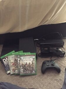 Xbox one + 4 games + Kinect