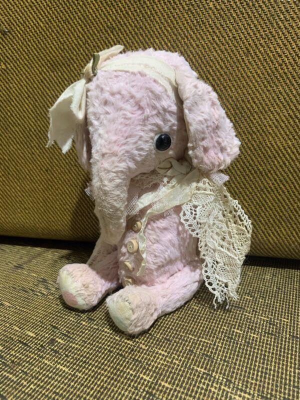 Mohair Elephant Handmade