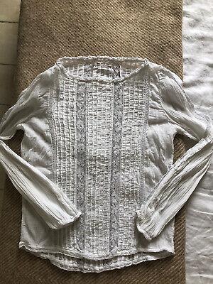 Isabel Marant Lace White Cotton Blouse Small Net A Porter
