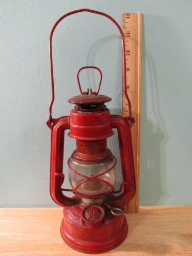 VTG Red Feuerhand Superbaby #175 K1491/1 Kerosene Lantern - West Germany