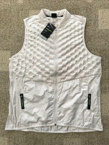 Nike Aeroloft Mens Running Vest Desert Sand Size S Goose Down Fill 928501-008