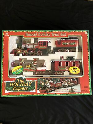 New Bright The Holiday Express Musical Christmas Train Set Vintage