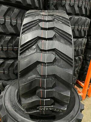 4 New 10-16.5 Power King Rim Guard Hd Skid Steer Tires For Bobcat Cat More