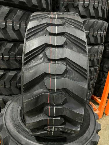 4 NEW 10-16.5 POWER KING RIM GUARD HD+ Skid Steer Tires For Bobcat CAT & more