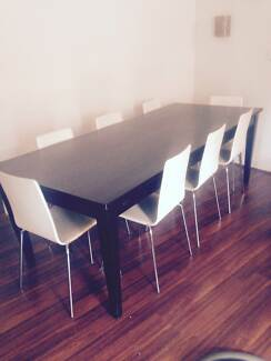 DINING SUITE–8 SEATER–MATCHING BAR STOOLS–GENUINE WHITE LEA Bayswater Bayswater Area Preview