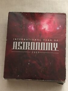 2009 INTERNATIONAL YEAR OF ASTRONOMY 1oz Silver Proof Coin Perth .999