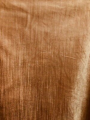 PEACH BROWN COTTON VELVET MEDIUM WEIGHT UPHOLSTERY FABRIC (57 in.) Sold BTY