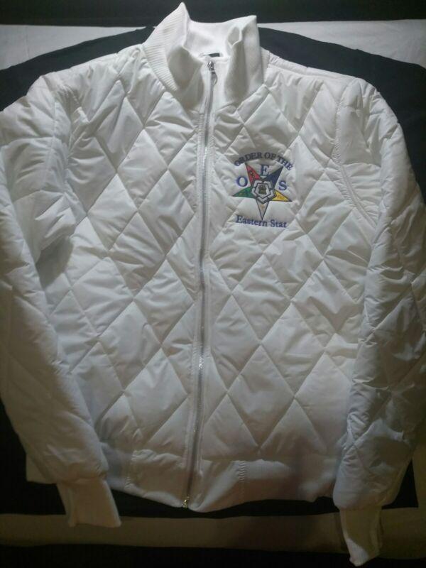 Order Of Eastern Star Puffer Jacket. NEW. Sizes MEDIUM--3XL.