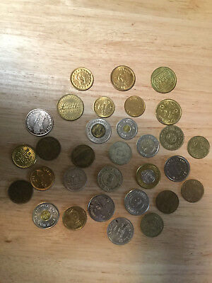 Lot of 31 Car Wash Tokens - All Different
