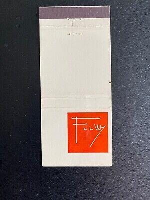 Frank Lloyd Wright Henredon Heritage Match Book Rare