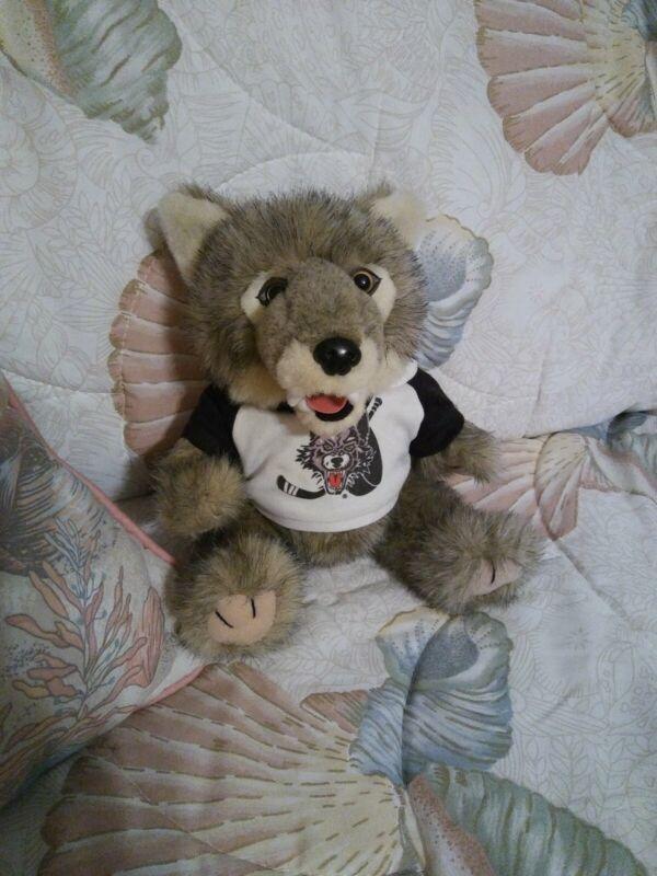"""""""  Skates"""" from Chicago Wolves of AHL Plush 8"""" Rare HTF"""