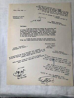 1950 Autograph Signed Letter Diplomat Ambassador Abba Eban Israeli Embassy DC