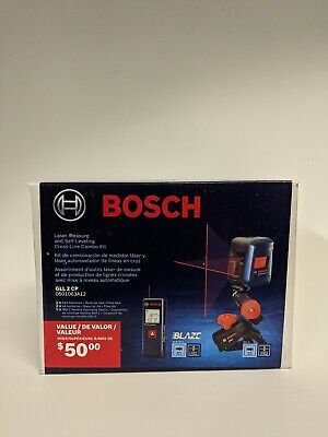 BOSCH GLL 2 CP Laser Measure and Self-Leveling Cross-Line Combo BLAZE GLM20X