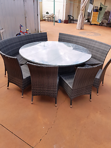 7 Piece Round Outdoor Dining Set Auburn Auburn Area Preview