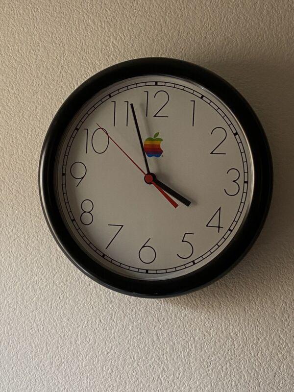 VINTAGE Apple Computer Wall Clock Marketing Item 1990 Mac Steve Jobs RARE 90s