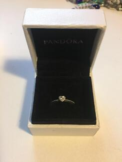 Pandora heart ring in silver