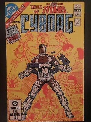 TALES OF THE NEW TEEN TITANS ISSUES 1-4 LOT OF 4  1982, Origins Cyborg, Starfire